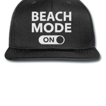 beach mode embroidery - Snapback Hat