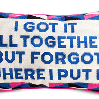 Got it All Together Needlepoint Pillow