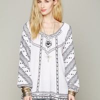 Free People Embroidered V-neck Tunic