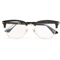 Persol - Round-Frame Acetate and Metal Optical Sunglasses