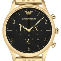 Men's Emporio Armani Chronograph Watch, 43mm - Gold/ Black