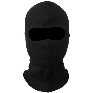 Windproof Balaclava Tactical Military Airsoft Paintball Winter Warmer Bicycle Army Gear Helmet Full Face Mask Black
