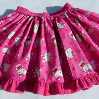 Hello Kitty skirt with ruffle
