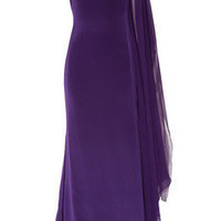 Notte by Marchesa | One-shoulder silk gown | NET-A-PORTER.COM