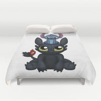 Can I Sit Here Duvet Cover by Katie Simpson