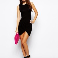 ASOS PETITE Asymmetric Sleeveless Body-Conscious Dress -