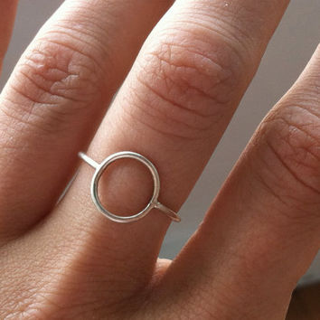 Sterling Silver Karma Ring, Eternity Ring, Infinity Ring, Stacking Ring, Knuckle Ring, custom made to order