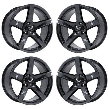 "20"" DODGE CHARGER SRT HELLCAT BLACK CHROME WHEELS FACTORY OEM SET 2604 EXCHANGE"