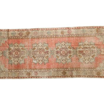 3x9 Vintage Distressed Oushak Rug Runner