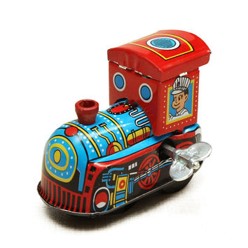 Retro Steam Train Reminiscence Children Vintage Wind Up Tin Toy Clockwork Spring Locomotive Classic Toys For Children Baby Kids