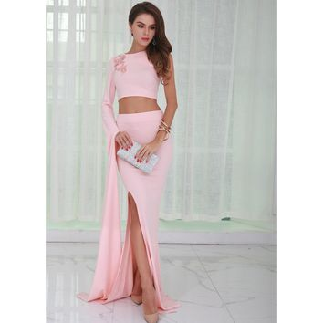 Pink Two Piece Gown
