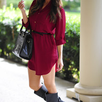 Our Favorite Fall Tunic: Maroon | Hope's