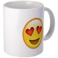 EMOJI heart smiley face COFFEE Mugs | EMOJI GIFT GUIDE