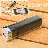 2500mah Mobile External Power Battery Charger for Iphone 4/4s, Various Mobile Phones and Digital Devices