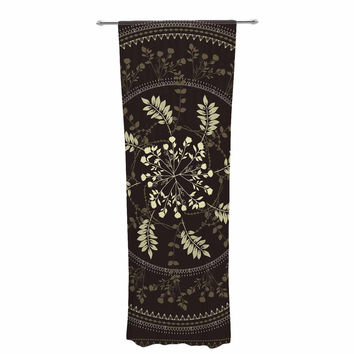 "Famenxt ""Reborn Mandala"" Beige Bandana Decorative Sheer Curtain"