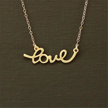 Tiny Heart Necklace Sweet Love Necklace in gold/silver For wedding gift for girlfriend gift