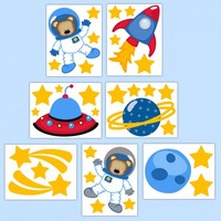Outer Space Ship Decor Nursery Decal Baby Boy Wall Art Stickers [1012] - $20.00 : DeCamp Studios, The best selection of nursery wall murals, childrens wallpaper border, teen girl or boy wall art decals, baby premade scrapbook pages, and digital printable c