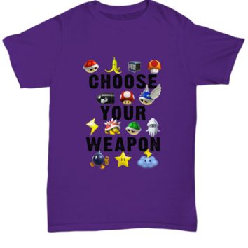 Choose Your Weapon Vintage Video Games Gamer T-Shirt