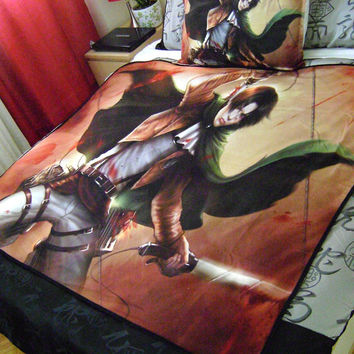 Attack on Titan, SnK: Captain Levi Art Blanket