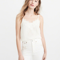 Womens Lace-Trim Cami | Womens Best Of Sale | Abercrombie.com