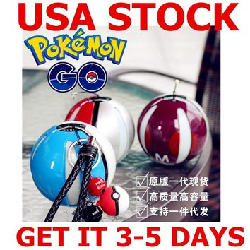 10000 Mah LED Quick Phone Charge Power Bank Pokemon Go PokeBall Game Cosplay Charger