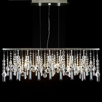 G7-830/5 Gallery Modern / Contemporary 5 LIGHT CRYSTAL LIGHTING PENDANT