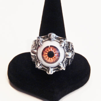 Stainless Steel Super Vivid Awesome Eyeball Ring