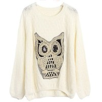 Women Casual Crewneck Batwing Plus Size Jumper Pullover Sweater