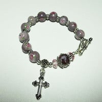 On Sale Rosary bracelet reminiscent of a stroll by ShizaruDesigns