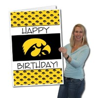 University of Iowa Hawkeyes 2'x3' Giant Birthday Greeting Card Plus Yard Sign