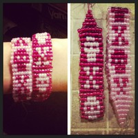 Skull Besties Hand Beaded Bracelets Set from Diamond Life Boutique