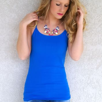 Oh So Soft Tank - Long Length: Royal Blue