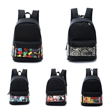backpack New Fahsion Girls Preppy Style Backpack Book Bags For Laptop Vintage Rucksack 15
