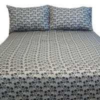 Street Revival Flower Skull King Sheet Set, Multi
