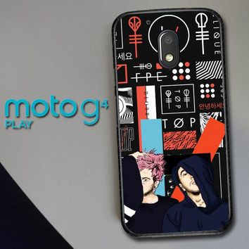 Twenty One Pilots Skeleton Clique X3471 Motorola Moto G4 Play Case