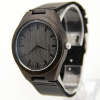 HAVERN Original Minimalist Mens Ebony Wooden Watch