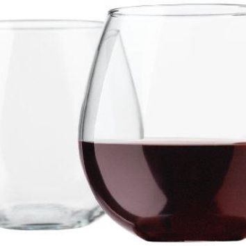 Libbey Vina Stemless 20Ounce Clear Balloon Wine Glass Set 4Piece