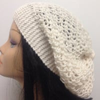 White Set Of 2 , Scarf and Hat set ,Baggy Hat , Long scarf , Beanie Hat , Shringle Scarf