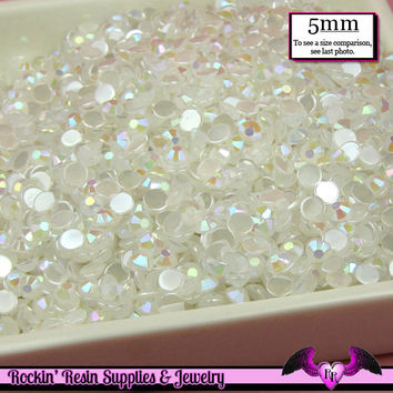 5mm 200 pcs AB JeLLY WHITE RHINESTONES Flatback  / Decoden Crystal Phone Deco