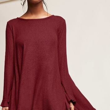 Ruffled Trapeze Top