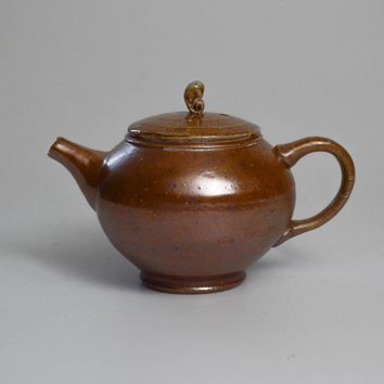 Woodfired Stoneware with Salt Glaze Teapot 200mL by Jonathan Steele