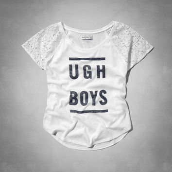 ugh boys lace sleeve graphic tee