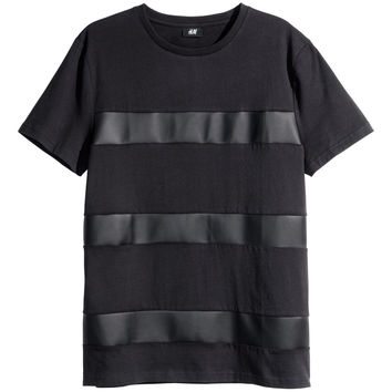 H&M - Striped T-shirt - Black - Men
