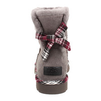 UGG Mini Bailey Bow Plaid Charcoal - Zappos.com Free Shipping BOTH Ways