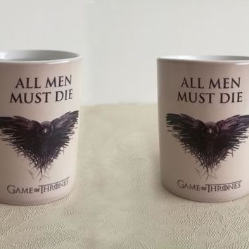 Game Of Thrones mugs heat sensitive mugs All men must die a song of ice and fire mug coffee mug heat changing color Tea Cups
