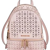 Michael Kors Rhea Zip Small Floral Perforated Nwt Backpack
