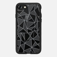 Abstract Lines Grey Transparent iPhone 7 Case by Project M | Casetify