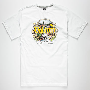 Volcom Barely Lethal Mens T-Shirt White  In Sizes
