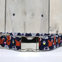 Woodland Squirrels Dog Collar