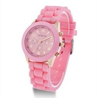 Mint Color Silicone Watch FAB007 Pink from topsales